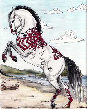 Admin's Mythical horses Sarn___Bacabello_by_lunatteo