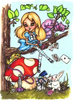 Alice in Wonderland Cartoon by photographiclove162
