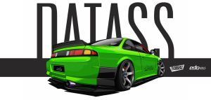 RB25DETT 200sx Vector-TeamART-Carbon by edcgraphic