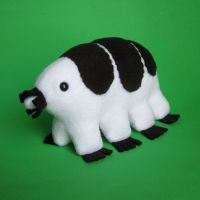 Black and white tardigrade by WeirdBugLady