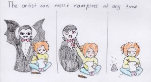 The artist can resist vampires at any time by Le-Solaire
