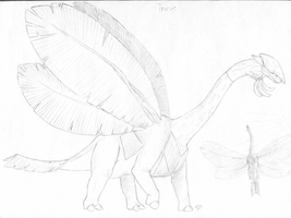 Tropius sketch by Weirda208