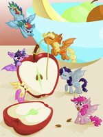 One Bat Apple by CatScratchPaper