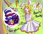 The vist of Carrot for get a special candy. by Octubre1996