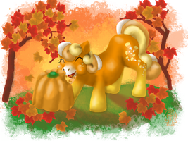 Candy Corn Pony (MLP-History Contest Entry) by AnScathMarcach