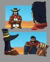 Twisted Fate and Graves shots by He-st