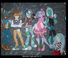 Monster High wall art  3 by Fallonkyra