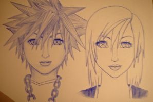Sora and Kairi by Cloudyh