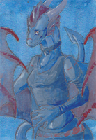 Aceo: Scalie by goosechimera