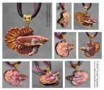 Sunset Fin - Collectable Betta Pendant by soulofwinter