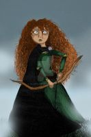 merida and fog by Elliepamp