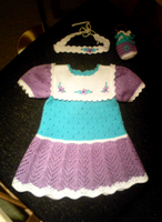 White, purple, turquoise dress by ToveAnita