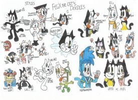 Felix The Cat's doodles 1 by FelixToonimeFanX360