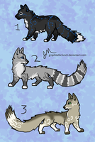 Some Adoptables by graphiteforlunch