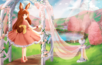 Bunny princess on a leisurely stroll by puddinprincess