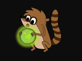 Rigby with the Soul Ball by GoldenSketch