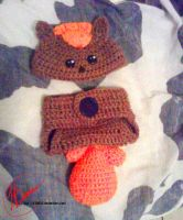 Crochet Vulpix Baby Outfit by LilliM00