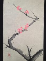 Brush painting- Cherry Blossom by Feagaur