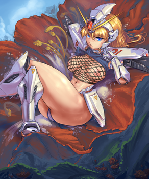 F91 Gundam Robot girl by cutesexyrobutts
