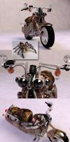 jumping spider harley by otas32