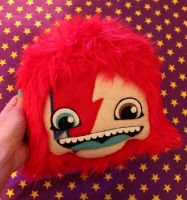 Ziggy Stardust Pillow by loveandasandwich