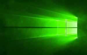WINDOWS 10 HERO WALLPAPER IN GREEN by GTAGAME
