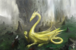 Geralt and the Dragon by LudvikSKP