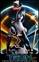 TRON PINUP by whisper1375