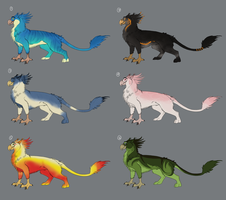 Griffin Point Adoptables by fuzzypinkmonster