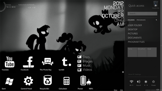 My gloomy desktop by TheKidProductions