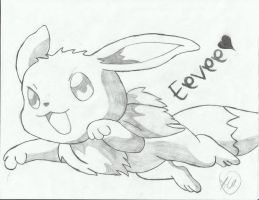 Eevee by SnowFallAtTwilight