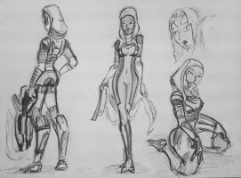 sketches Tali (85) by spaceMAXmarine