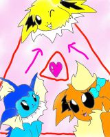 Love Triangle by Eeveelutionluver123