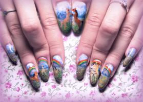 Pony Fairytale Nail Art by Undomiele