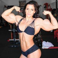 Brunette Muscled by Turbo99