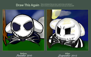 Draw Me Again: Jack Skeleton Kirby by dragonfire53511