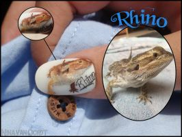 Bearded Dragon nail by JawsOfKita-LoveHim