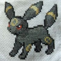Umbreon Cross Stitch by Mickeycricky