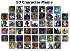 50 Characters Meme :TRANSFORMERS: by yodana