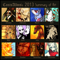 2013 Summary of Art by CanisAlbus