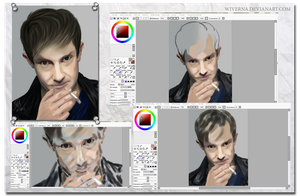 The stage of work Martin Freeman by wiverna