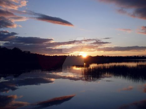 Sunset at Unity Pond 5 by forestchild666