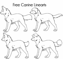 Free Canine Linearts by CatLuvsCookies