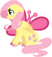 Fluttershy Lineless by LittlePinkAlpaca
