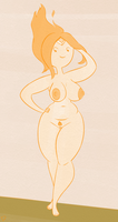 Flame Princess Commission by Rogerbacon