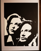 Paper Cut Mulder and Scully by tripperfunster