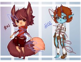 [Adoptables] Random adopts [open] by Z-afiro