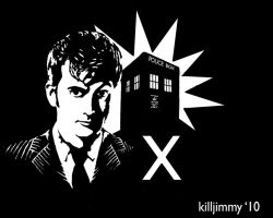 The tenth Doctor stencil by killjimmy