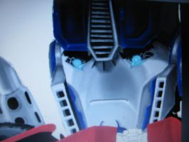 Optimus face from the first Op/Arcee pic. by blondecomicartist