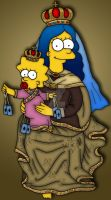 Virgen del Carmen Simpson by orl-graphics